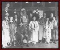Representatives of the National Council of American Indians around 1926 - Gertrude Bonnin is the third woman from the right.